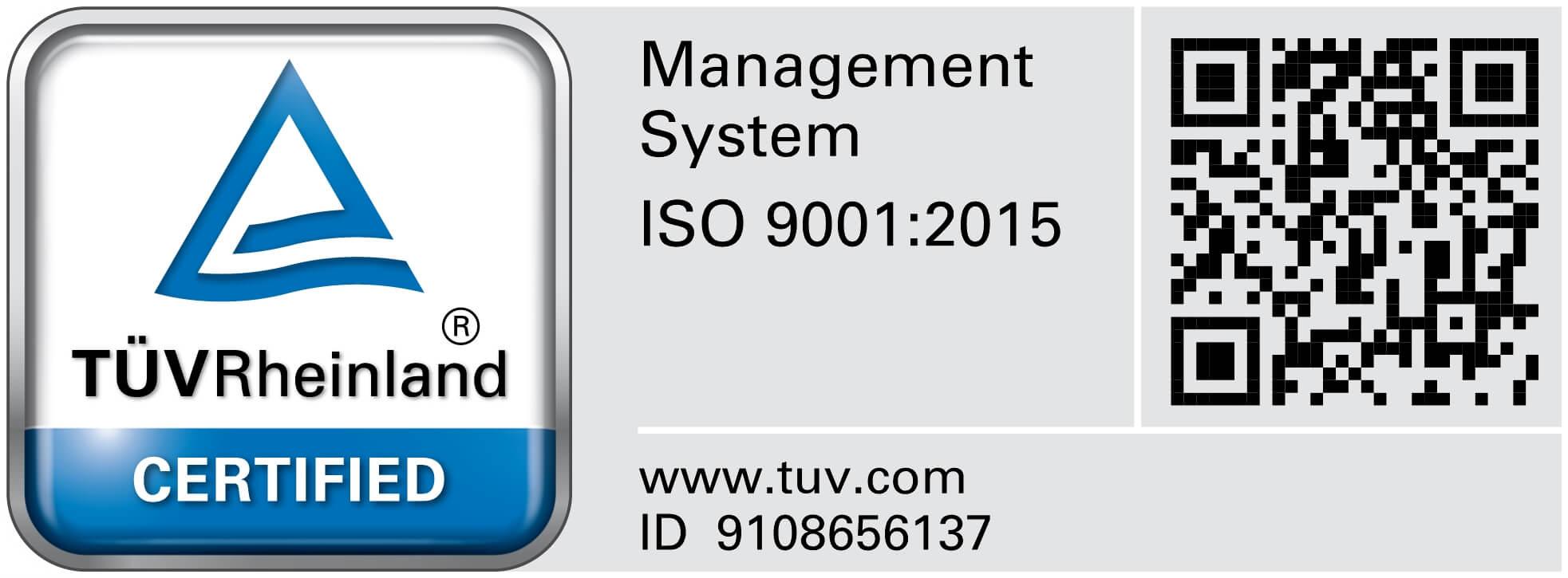 VEXUS TUV Certificate