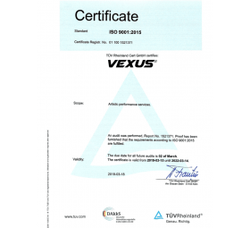 Certificat TUV Formatia VEXUS