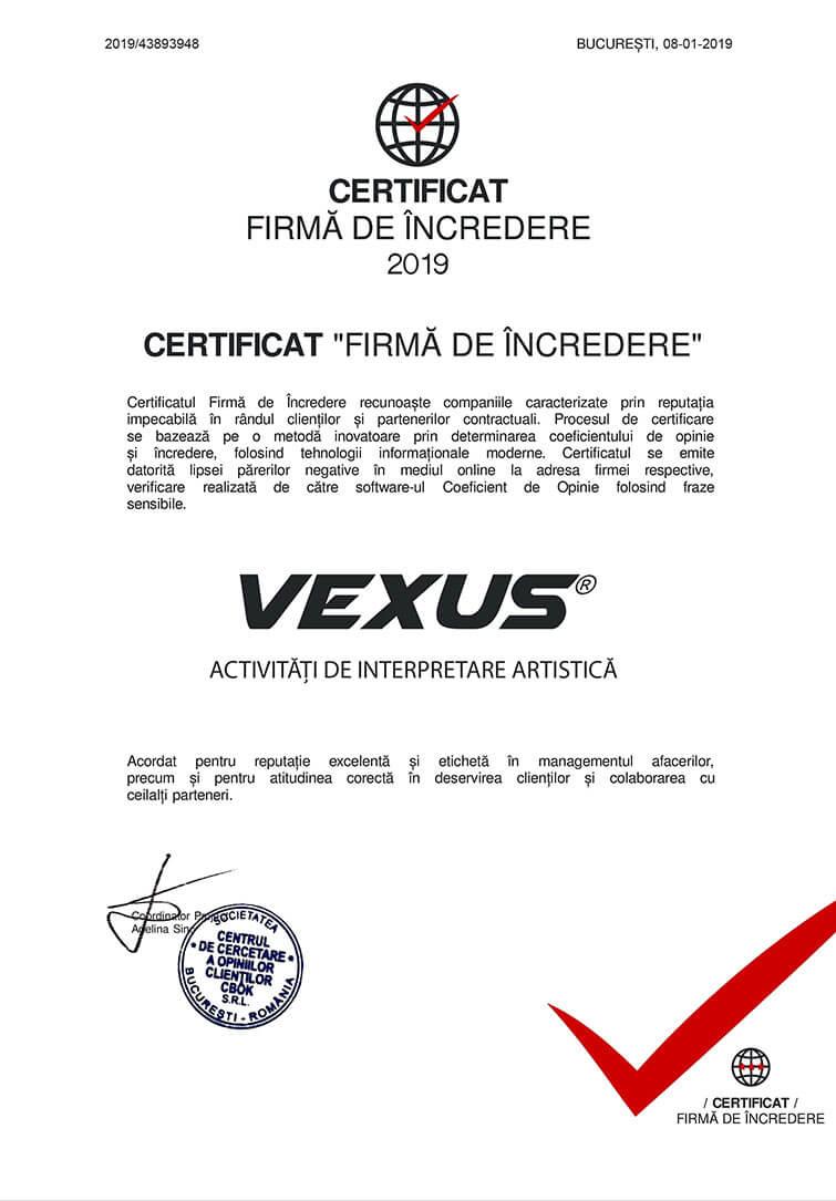 Certificat VEXUS